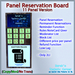 STC Panel Reservation Board (11 Slots) [Copy]