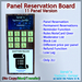 STC Panel Reservation Board (11 Slots) [Single,Trans]