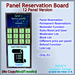 STC Panel Reservation Board (12 Slots) [Single,Trans]