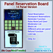 STC Panel Reservation Board (14 Slots) [Single,Trans]