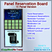 STC Panel Reservation Board (15 Slots) [Copy]