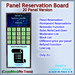 STC Panel Reservation Board (20 Slots) [Copy]