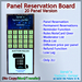 STC Panel Reservation Board (20 Slots) [Single,Trans]
