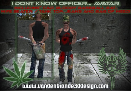 ~I Dont Know Officer Outfit , Baseball bat + Hud!