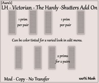 {Aura's} LH - Victorian - The Hardy - Shutters