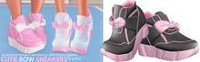 Spoiled - Cutie Bow Sneakers Flat & High Dark Grey