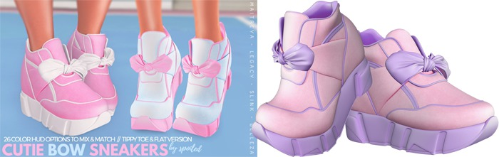 Spoiled - Cutie Bow Sneakers Flat & High Polly Pocket Pink
