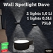 *DenPaMic* Wall Spotlight Dave
