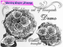 DEMO_Wedding set of bouquets roses mesh 008_ZA