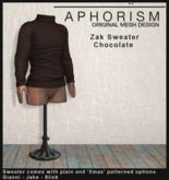 !APHORISM! - Zak Sweater Chocolate