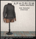 !APHORISM! - Zak Sweater Charcoal