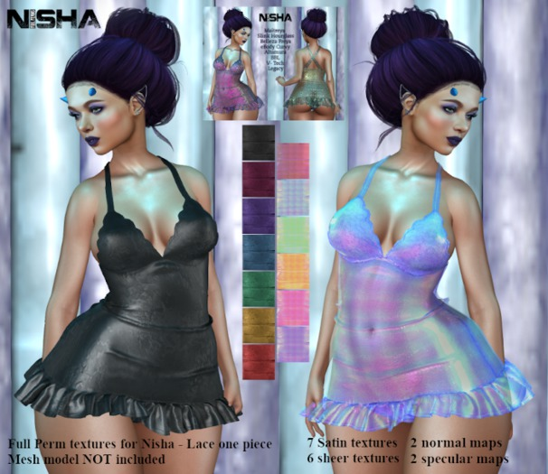 Nisha - Lace one piece extra textures