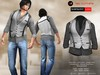 A&D Clothing - Shirt&Vest -Luka- Stone