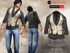 A&D Clothing - Shirt&Vest -Luka- Beige