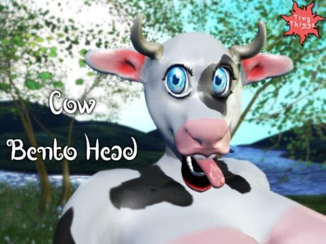 :Tiny Things: Cow Bento Head