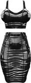 RIOT / Gia Latex Top & Skirt - Black   Maitreya / Belleza / Slink