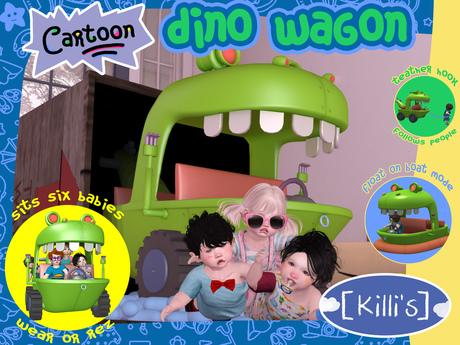 [Killi's] Cartoon Dino Wagon / Boat - Six Seats!