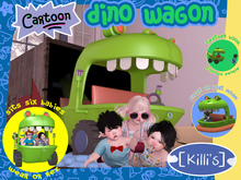 [Killi's] Cartoon Dino Wagon / Boat - Six Seats!