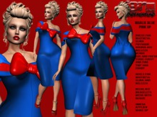 **MARLIE BLUE VERSION PIN UP STYLE COMPLET OUTFIT** (WEAR)