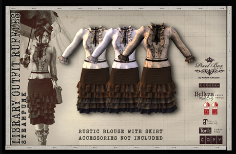PIXEL BOX - Steampunk Outfit Ruffles Library