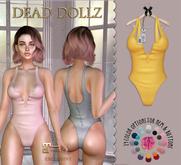 Dead Dollz - Cozy Bodysuit - Yellow
