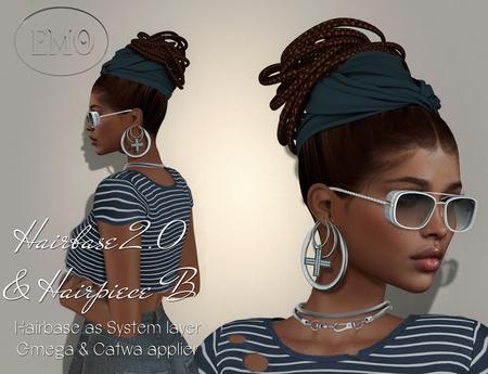 .:EMO-tions.. *HAIRBASE 2.0 + HP B* -brown -wear to unpack