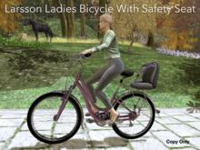 Larsson Ladies Bicycle With Passenger Safety Seat!