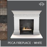 Sequel - Peca Fireplace - White