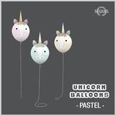 Sequel - Unicorn Balloons - Pastel