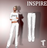 INSPIRE Wrinkled Pants White [Tweenster]