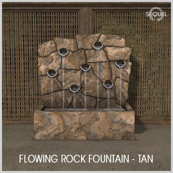 Sequel - Flowing Rock Fountain - Tan