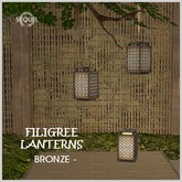 Sequel - Filigree Lantern - Bronze
