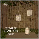 Sequel - Filigree Lantern - White