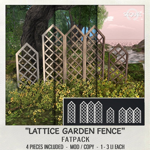Sequel - Lattice Garden Fence - Fatpack