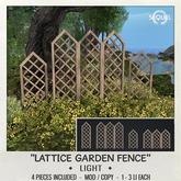 Sequel - Lattice Garden Fence - Light (Wear Me)