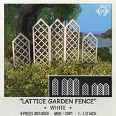 Sequel - Lattice Garden Fence - White (Wear Me)