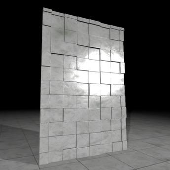 [L.W.T] 3D Wall Small Squares ❤ Full Perm