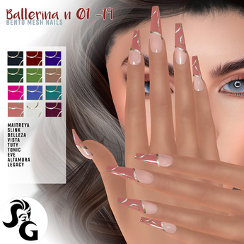 ::SG:: Ballerina N 01 - 19 Bento mesh nails - UP