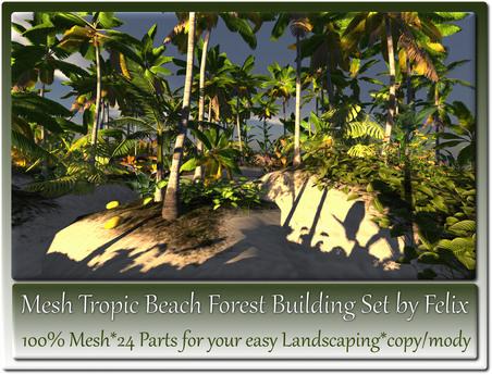 Mesh Tropic Beach Forest Building Set by Felix 24 Parts c-m