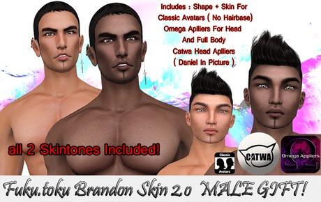 Fuku.Toku Brandon Skin 2.0 Male GIFT!
