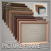 =CaD= SHABBY WOOD PICTURE FRAME - BUILDERS BASICS full perm