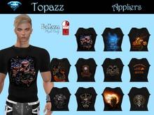 Men's Biker themed T shirt Applier