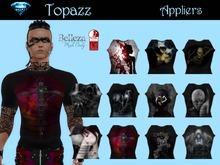 Men's Goth themed T Shirt Applier