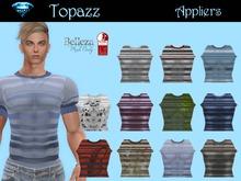 Men's Striped T Shirt Applier