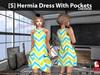 [S] Hermia Dress With Pockets Chevron