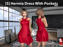 [S] Hermia Dress With Pockets Red