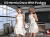 [S] Hermia Dress With Pockets White