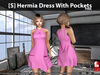 s  hermia dress with pockets pink pic