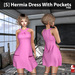 s  hermia dress with pockets pink ad