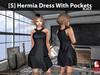 [S] Hermia Dress With Pockets Black